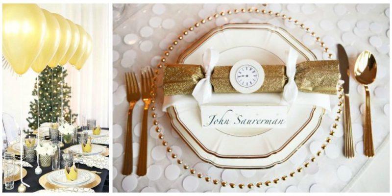 Silvester Tisch eindecken: Dekoration selber machen