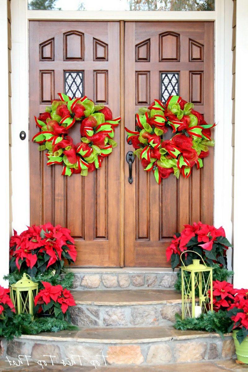 tuerkranz zu weihnachtenfront porch furniture