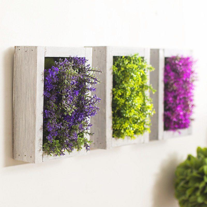 Blumendeko für die Wand