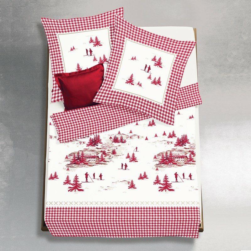 Bettwäsche zu Weihnachten winterliche Landschaft
