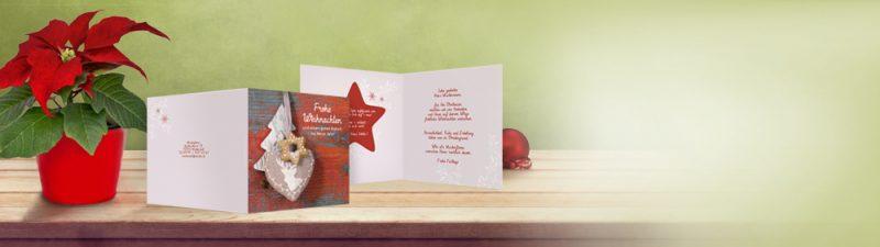 Weihnachtskarten online selber gestalten