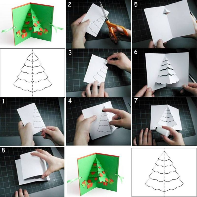 weihnachtskarten selber machen 15 diy ideen anleitung. Black Bedroom Furniture Sets. Home Design Ideas