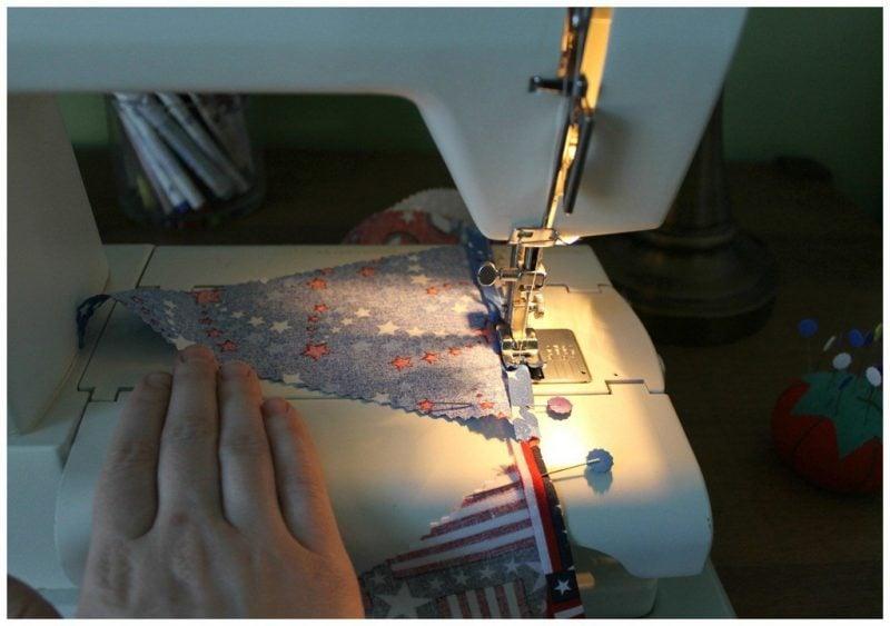 Wimpelkette nähen: Anleitung mit Stoff