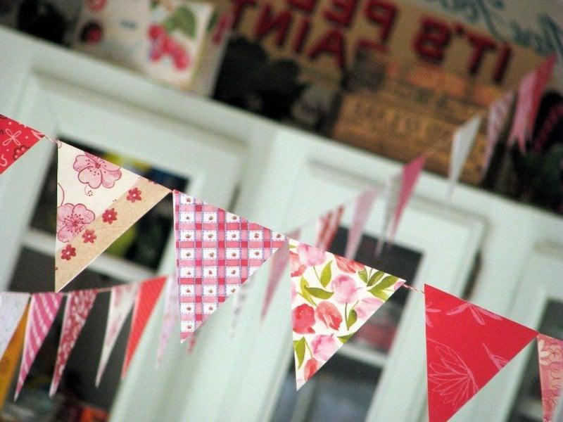 Wimpelkette selber machen - DIY Ideen und Anleitung