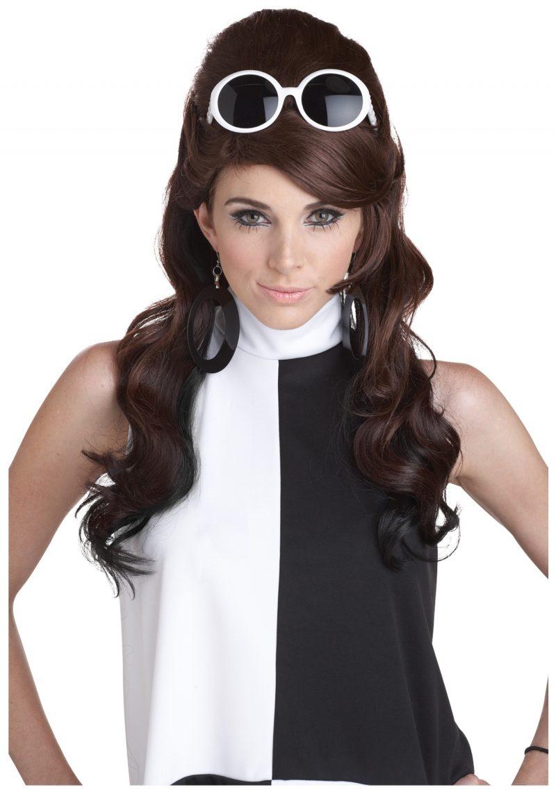 1960 retro kostüm fasching ideen verkleidung weiß schwarz