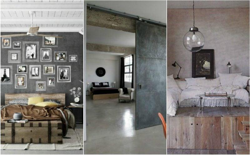 3 Schlafzimmer industrieller Stil