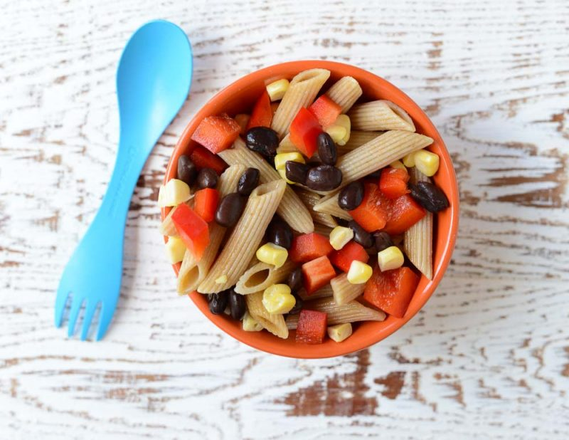 healthy pasta salad Südwestlicher Penne Nudelsalat für Kinder