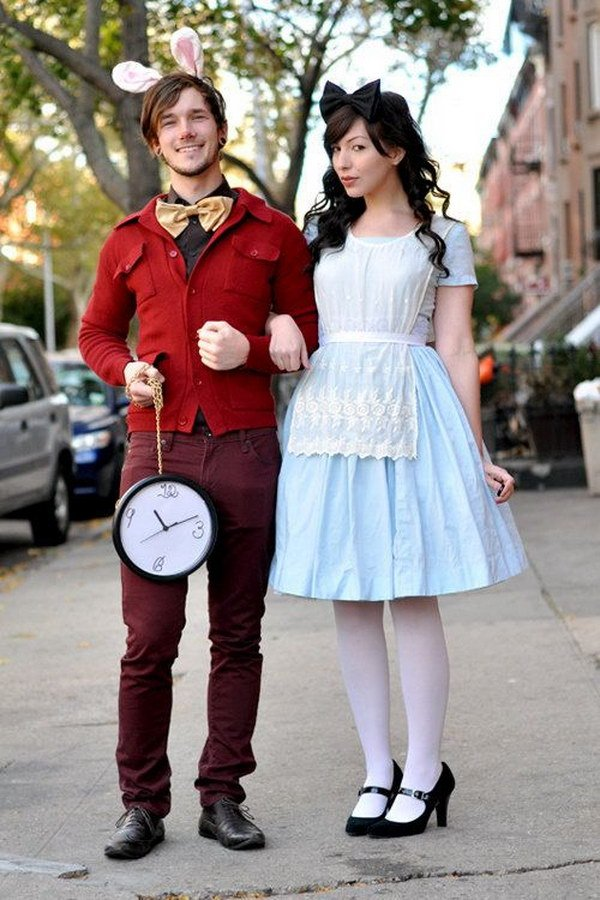 Alice im Wunderland kostüme für zwei fasching ideen
