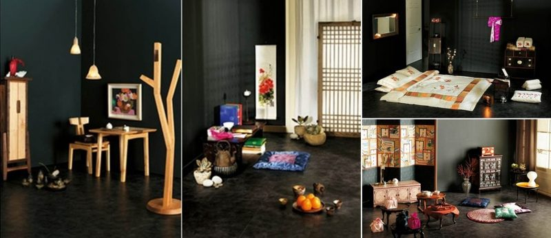 Asiatische Möbel geben einen charmanten Look