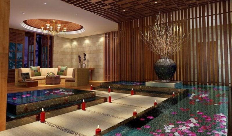 Asiatische Möbel: moderne Aussattung