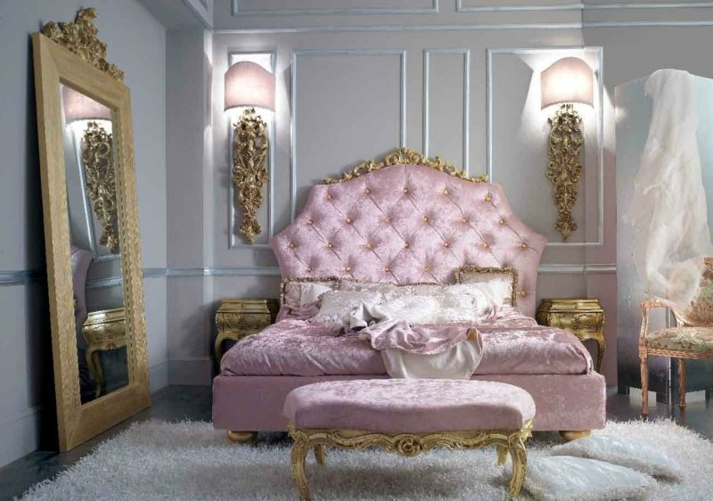 Schlafzimmer einrichten Barock Stil prachtvolles Ambiente