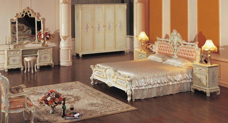 Schlafzimmer einrichten originelle Ideen Barock Stil