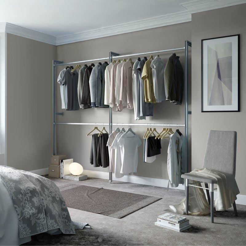 Begehbarer Kleiderschrank Regalsysteme auch für die Männer
