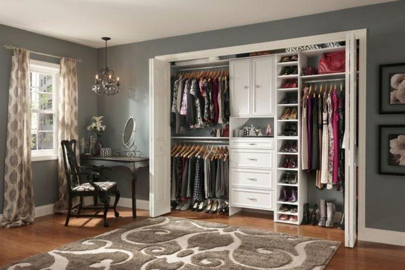Begehbarer Kleiderschrank Schubladen Kleiderständer schuhregal