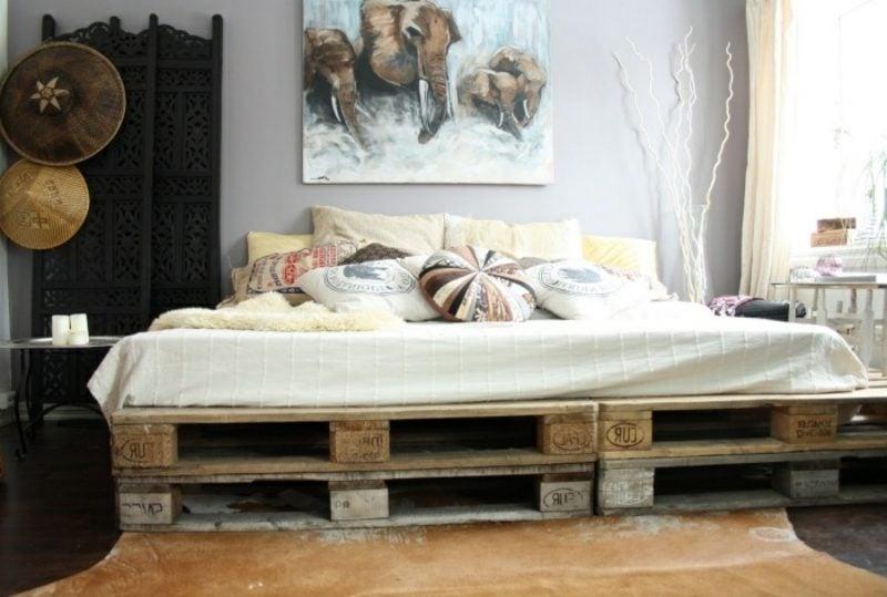 Europaletten Bett moderner Look
