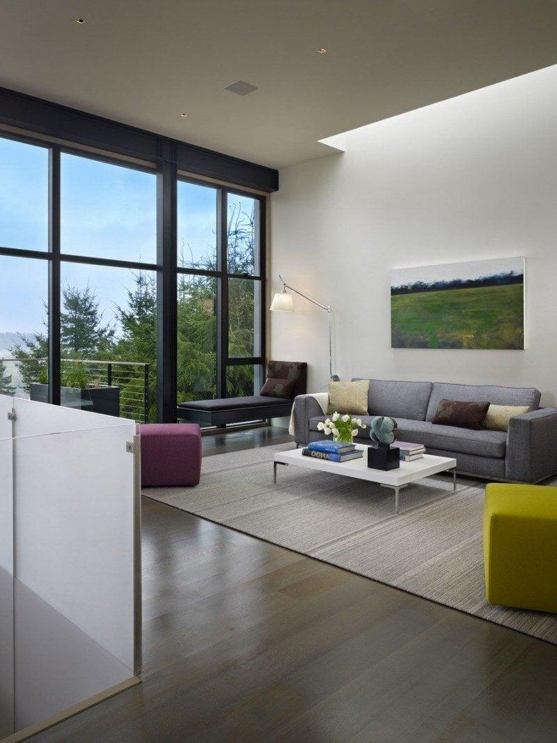 schickes wohnambiente 75 faszinierende ideen f r bodentiefe fenster fenster t ren zenideen. Black Bedroom Furniture Sets. Home Design Ideas