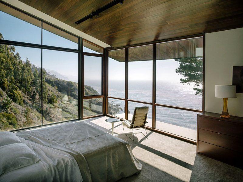 Bodentife Fenster sorgen für schönes Leben hinter voll verglasten Wänden