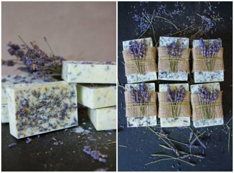 Seife mit Lavendel, Honig und Zitrone zu Hause machen