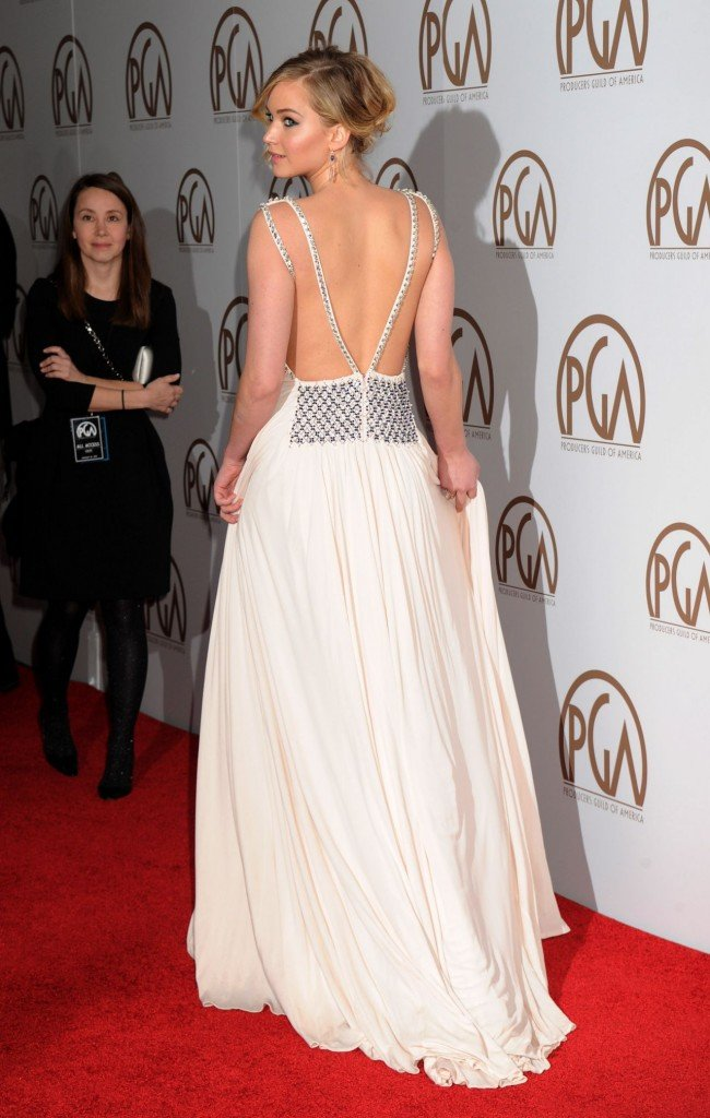 Designerstoffe: Jennifer Lawrence in Prada