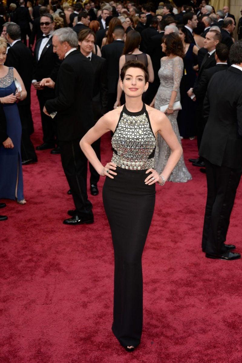 Designerstoffe: Anne Hathaway in Gucci