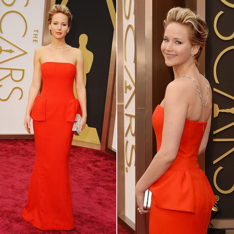 Designerstoff Seide: Jennifer Lawrence