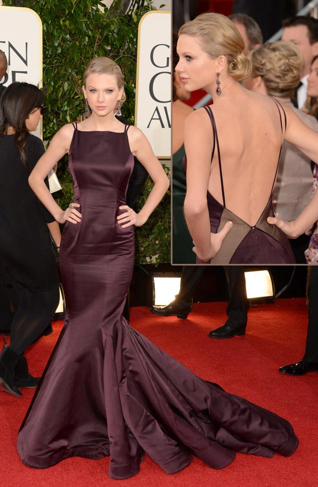Designerstoff Satin: Taylor Swift in Donna Karan