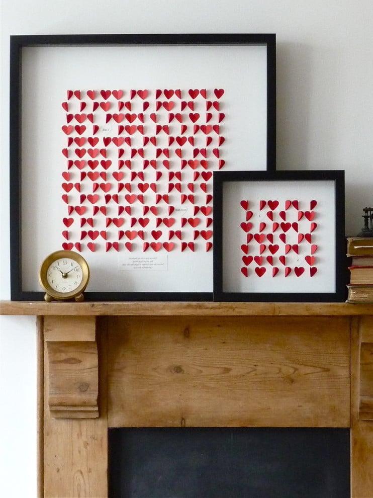 Passende Wandgestaltung zum Valentinstag!