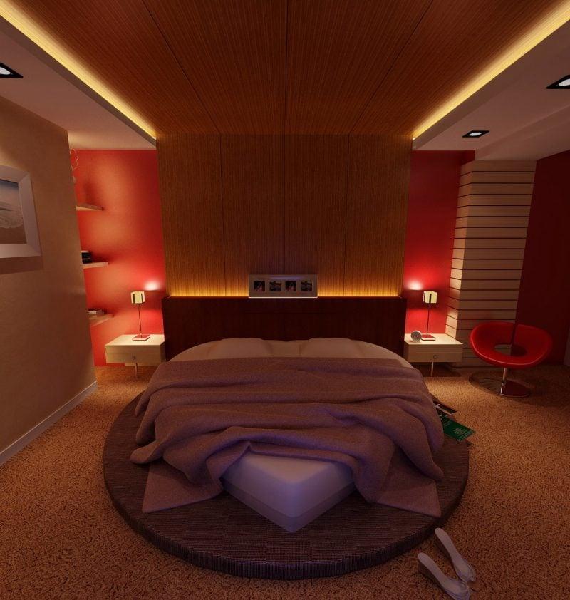 Schlafzimmer zum Valentinstag einrichten!