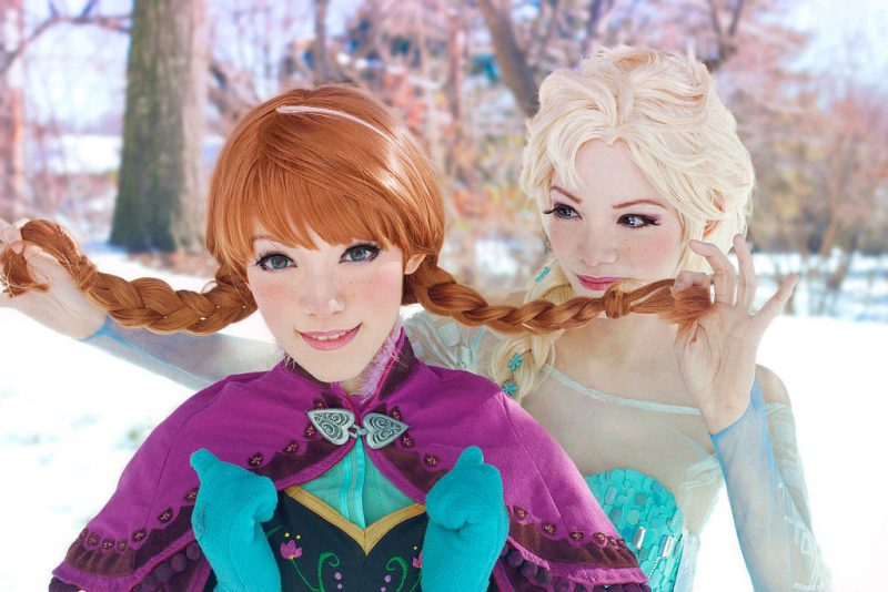 Frozen Disney kostüm kostüme für zwei coole faschingskostüme verkleidung ideen kreativ