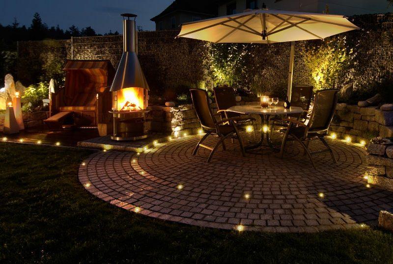 Gartengestaltung Ideen Akzentbeleuchtung Nacht