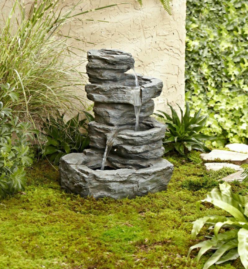 Gartengestaltung Ideen Brunnen