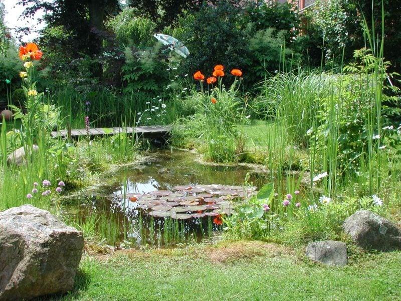 Gartengestaltung Ideen Teich herrlicher Look