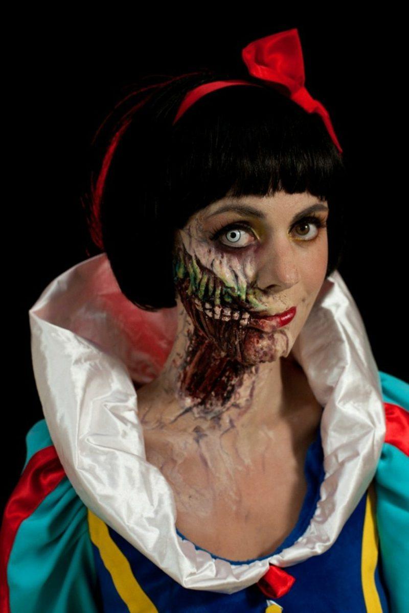 Kostüme zu Halloween Frauen Schneewittchen gruselige Version