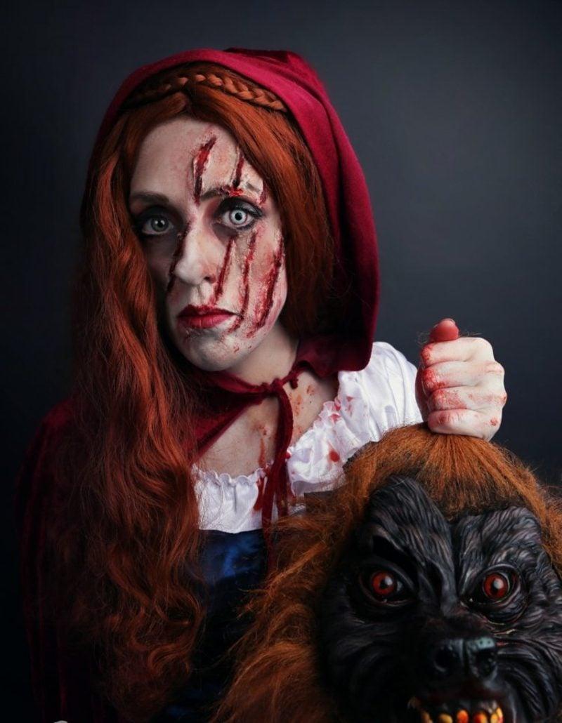 Halloween Kostüme Rotkäppchen gruseliger Look