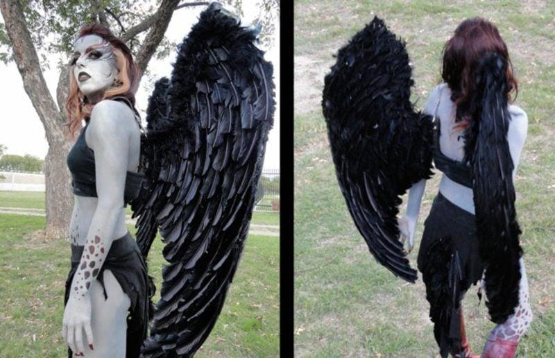 Halloween Kostüme gruselige Harpyie