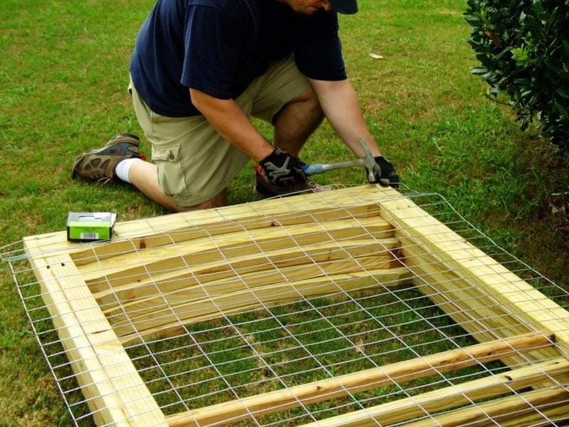Hundezwinger selber bauen: Schritt 2