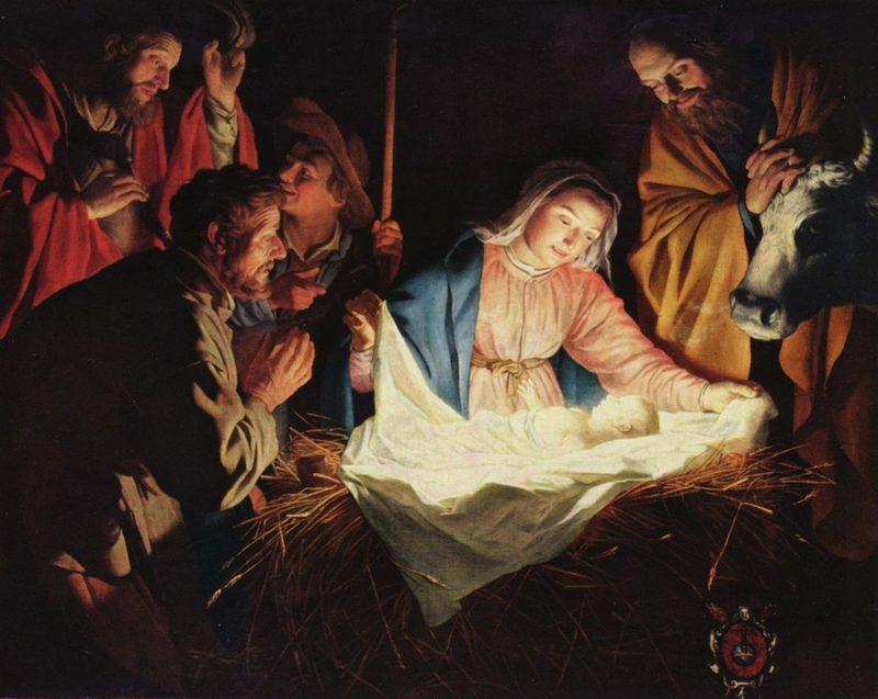 Weihnachtslieder christlich Jesus in der Krippe