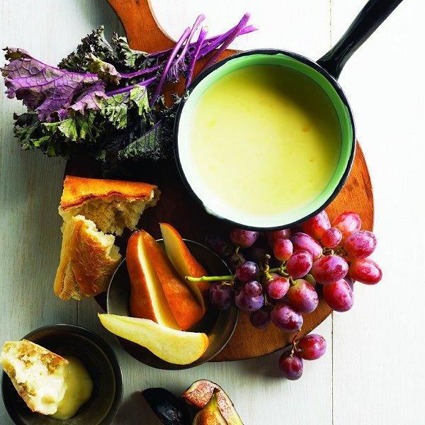 Käsefondue Beilagen: Obst und Gemüse