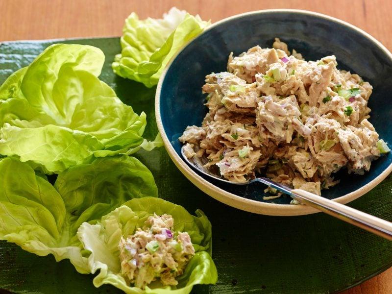 Käsefondue Beilagen: Salat mit Thunfisch!