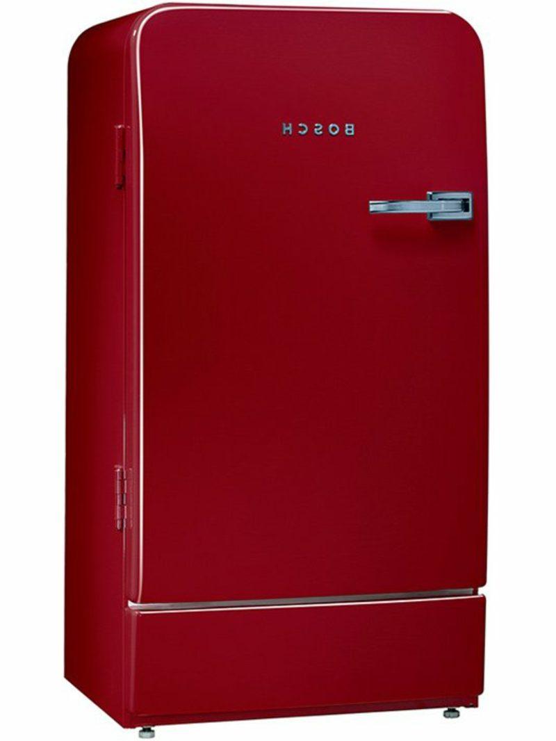 Bosch Retro Kühlschrank farbenfrohes Design Burgunderrot