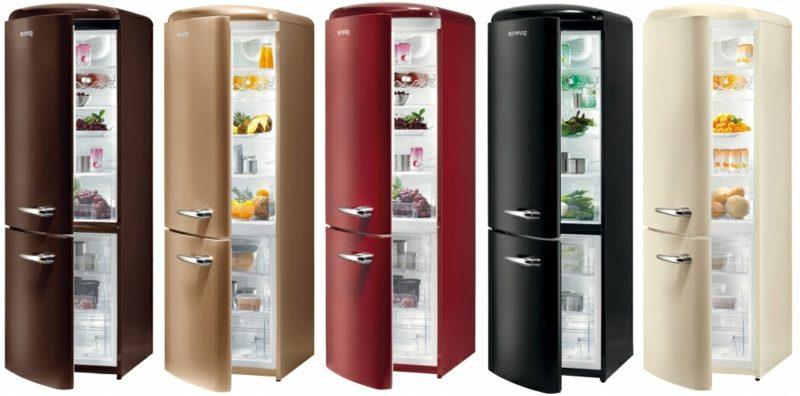 Bosch Retro Kühlschrank gross unterschiedliche Modelle Farbgestaltung