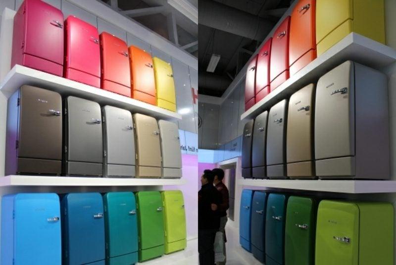 Bosch Retro Kühlschrank Vielfalt an Farben und Modellen