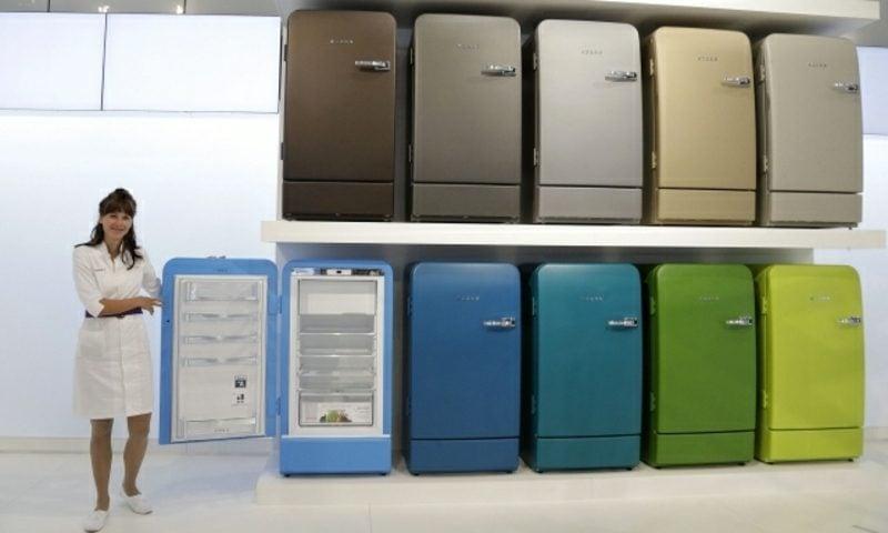 Bosch Retro Kühlschrank faszinierende farbgestaltung