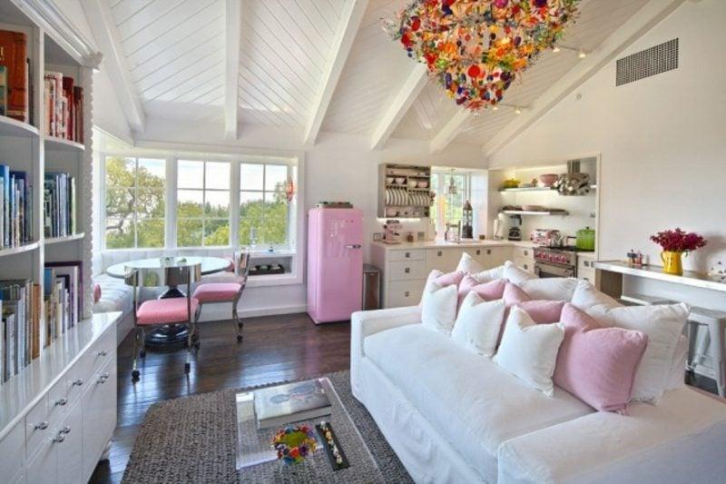 Kühlschrank retro rosa  Bosch Retro Kühlschrank als Akzent in der Kücheneinrichtung: 20 Ideen