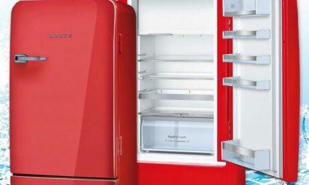 Bosch Retro Kühlschrank rot