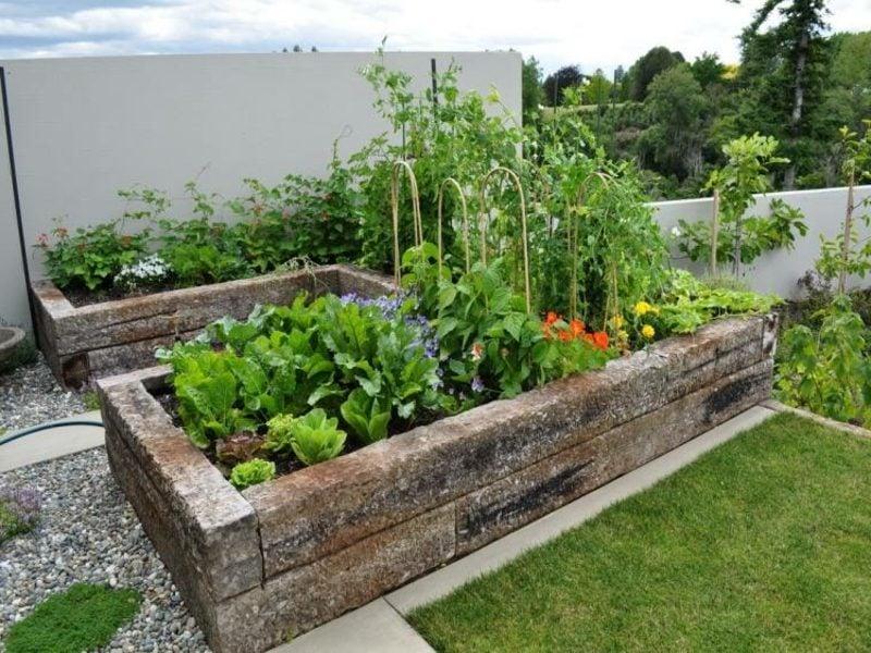 Gartengestaltung Ideen Hochbeete herrlicher Look