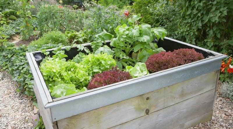 Gartengestaltung Ideen Hochbeet Holz