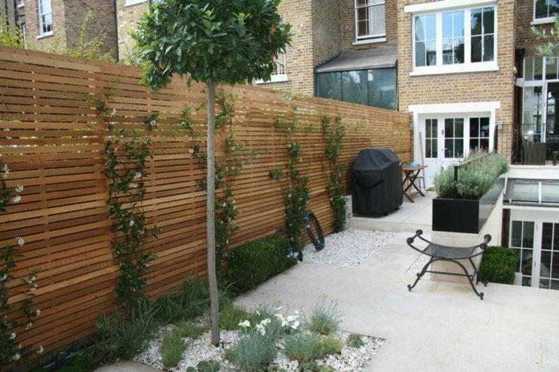 Gartengestaltung Ideen Sichtschutz Zaun Kletterpflanzen