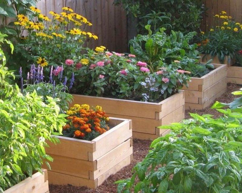 Gartengestaltung Ideen Blumenhochbeete