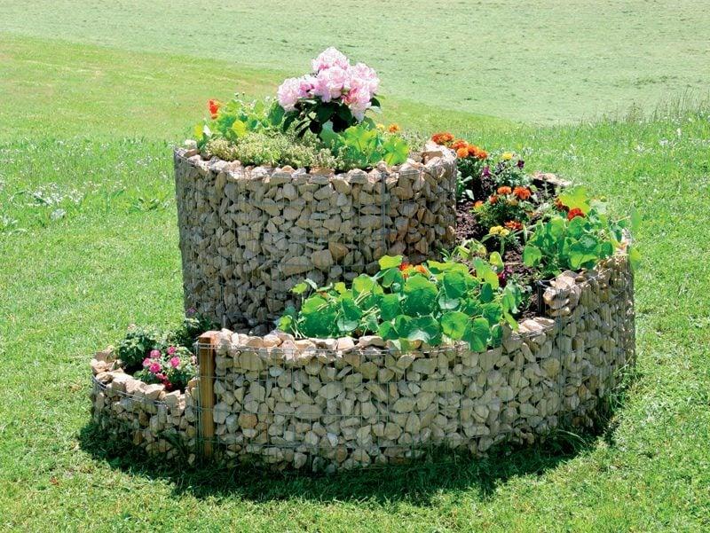 Gartengestaltung Ideen Kräuterschnecke